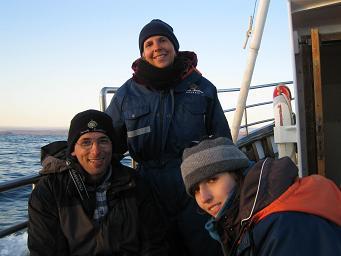 Christian, ich, Annemarie auf hoher See