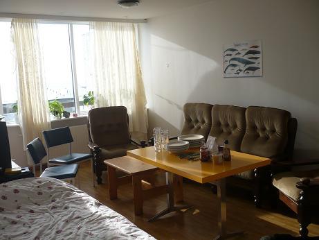 Das Wohnzimmer sieht auch voll aus, wenn man sämtliche Möbel, die wir besitzen hineinstellt