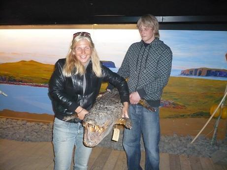 So ein Krokodil ist ganz schön schwer...da muß man schon zu mehreren ran