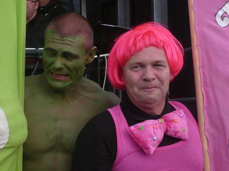 Der Hulk war auch mit dabei