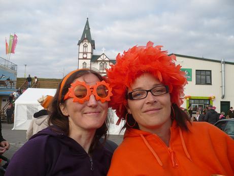 Karen und Hilda, zwei unserer Kolleginnen vom Museum
