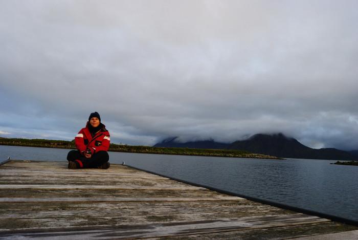 Aufgrund der Temperatur habe ich den tollen North Sailing Anzug gleich angelassen
