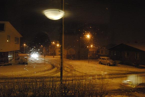 Blick aus dem Fenster. 20:30 Abends