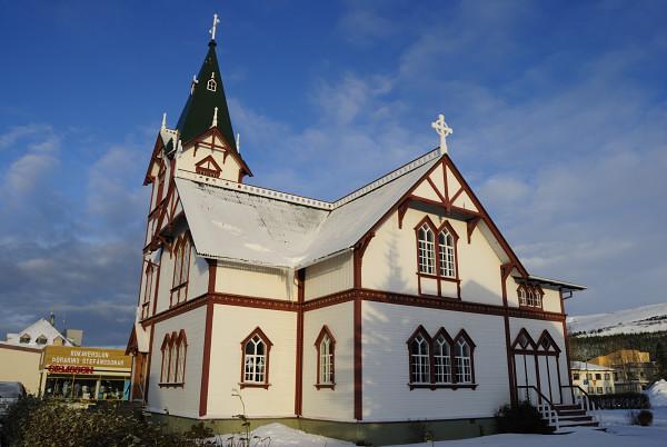 Die Kirche von Húsavík