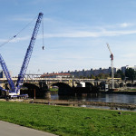 Blick auf die Albertbrücke