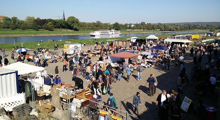 Überblick über Flohmarkt in Dresden